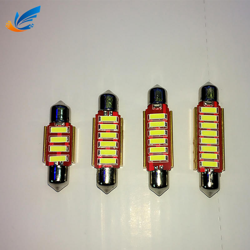 festoon led 31mm 36mm 39mm 41mm 4SMD 12V 24V 7020 car mini tail bulb