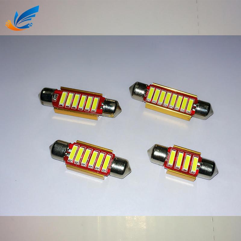 festoon led 31mm 36mm 39mm 41mm 4SMD 12V 24V 7020 car mini tail bulb