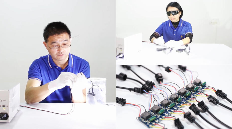 AUTO LED HEADLIGHT QUALITY TEST LAN XIN MANUFACTURER