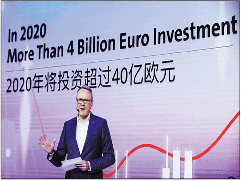 Volkswagen Group China pledges to increase investment to 4b euros in 2020