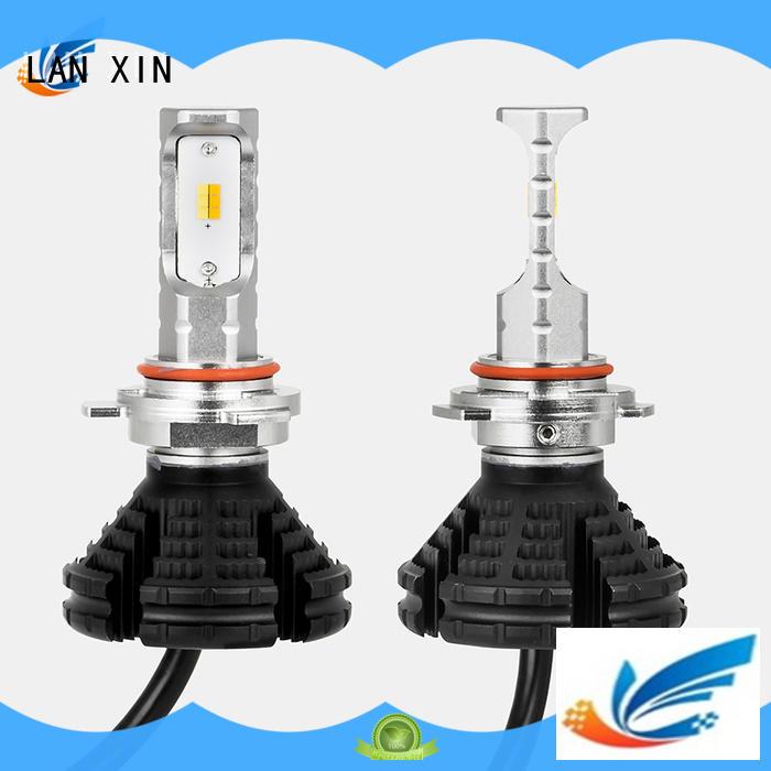 Lanxin automotive light waterproof halo projector headlights supplier for auto led lighting