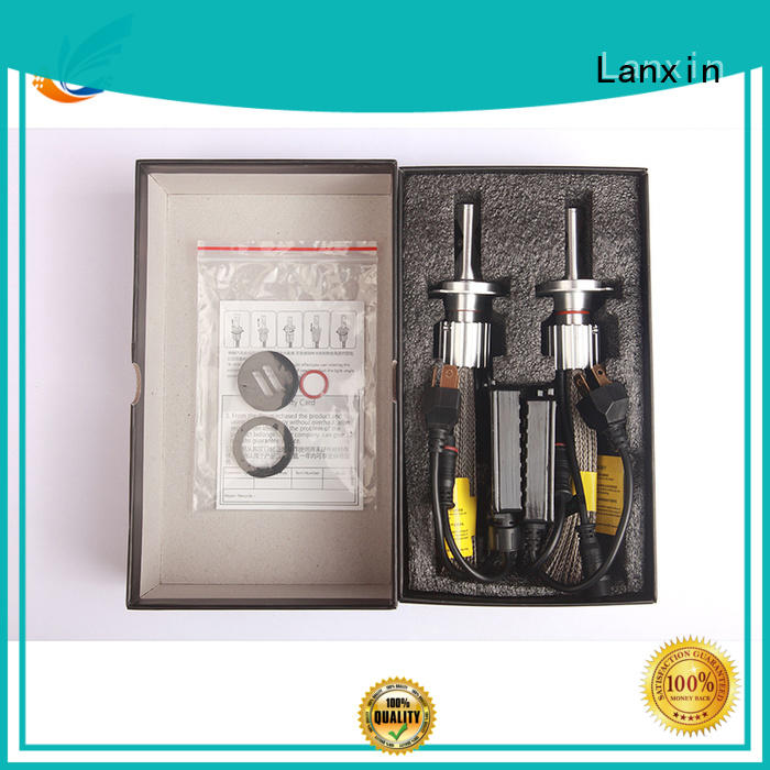 Lanxin h7 headlight bulb waterproof for harley