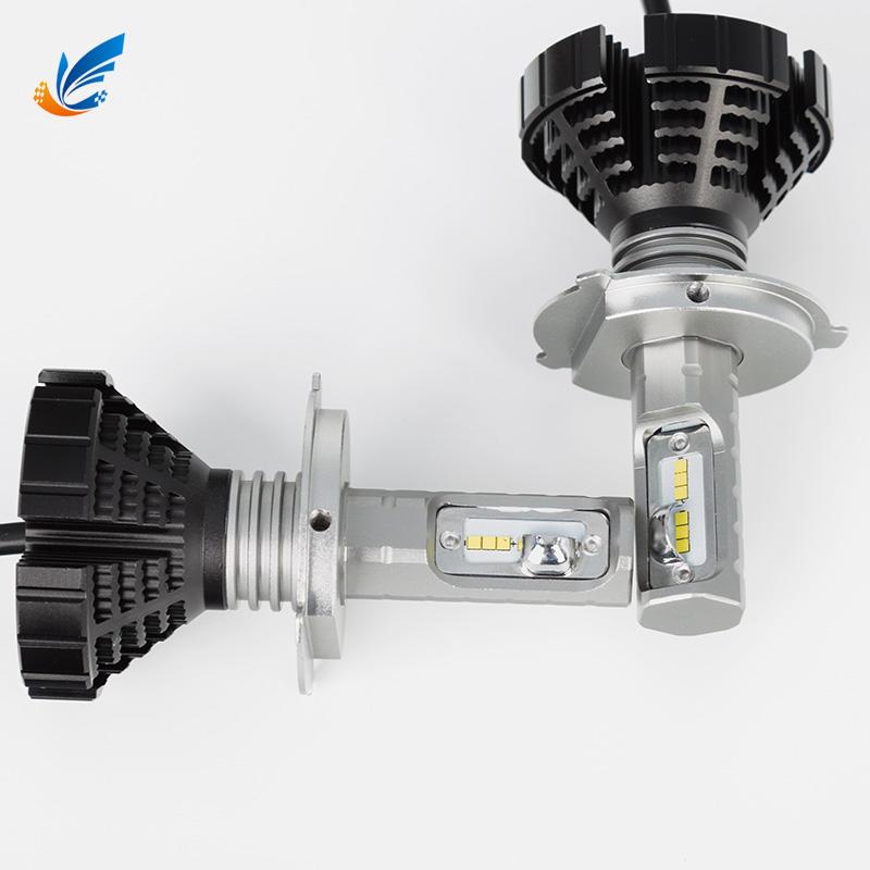 Car led bulb kit unique design 12000LM D8 H4