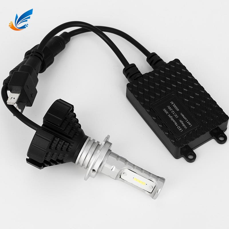 Auto led bulb aluminium fanless 8G H7