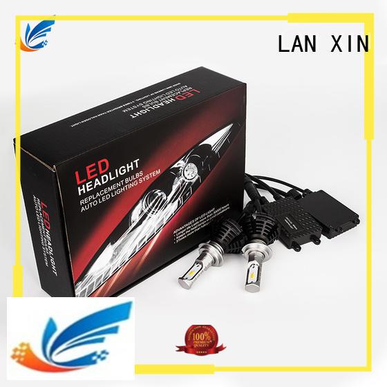 Lanxin waterproof halo projector headlights supplier for auto led lighting