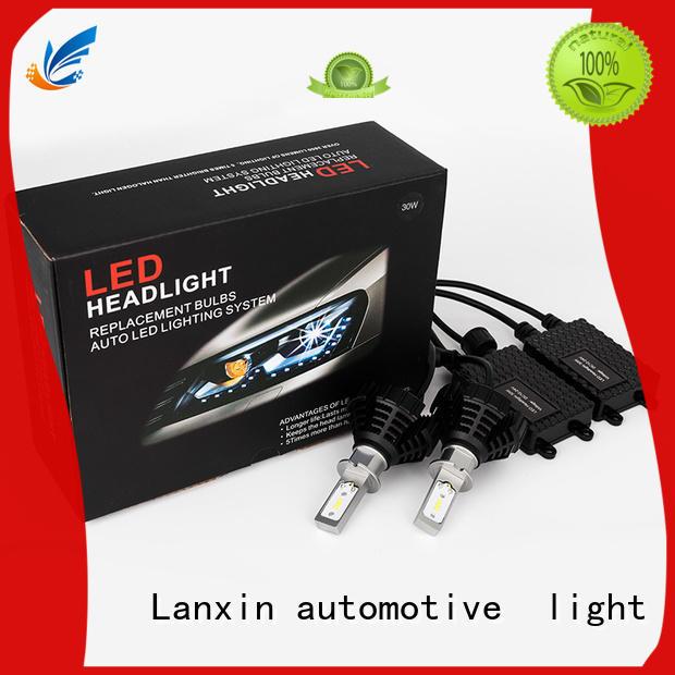 waterproof black headlights factory for auto led lighting