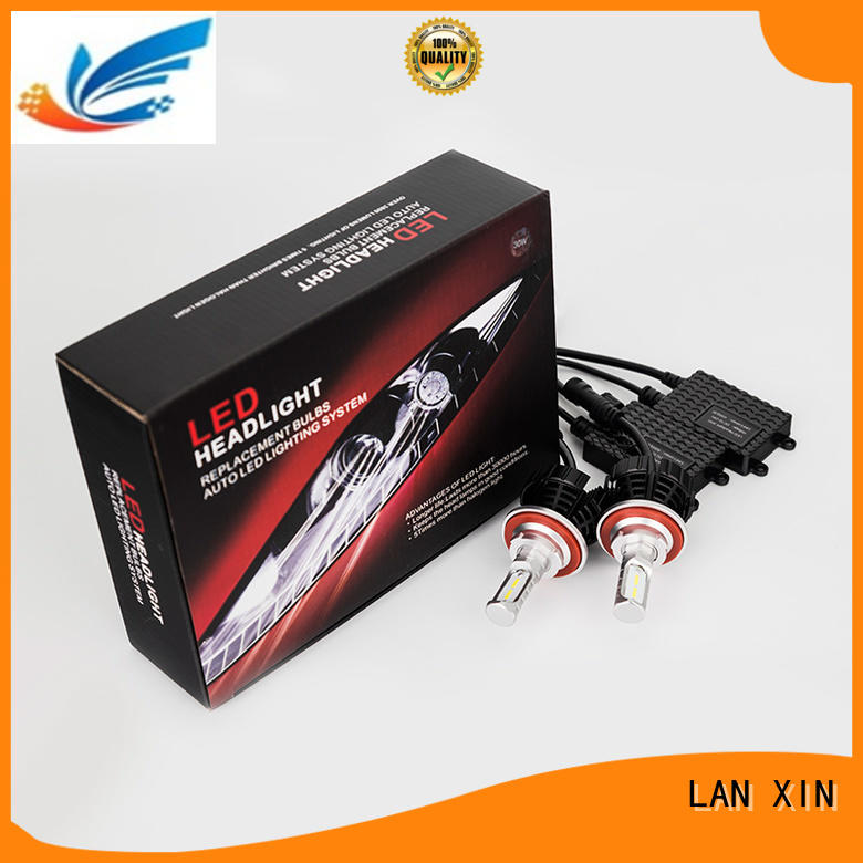 Lanxin automotive light no fan led replacement headlights manufacturer for led lighting