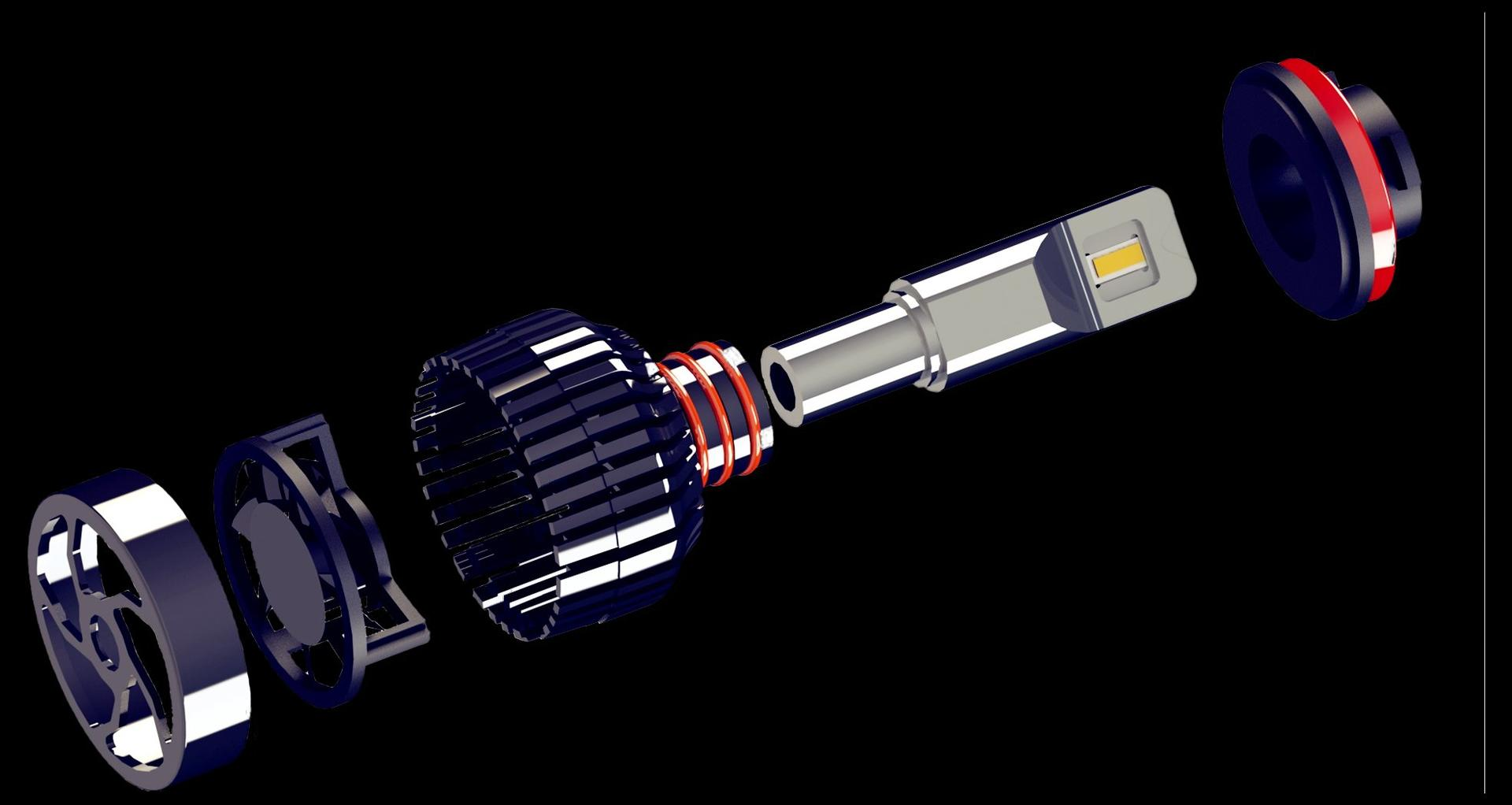 Automotive led headlight h1 h3 h7 h4 h8 h9 9005 9006 high power car led lights