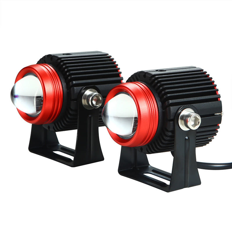 dual color led headlight for motorcycle car